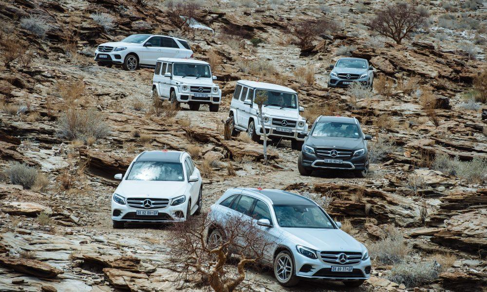 Mercedes Sportnutsvoertuie steel die Kroon