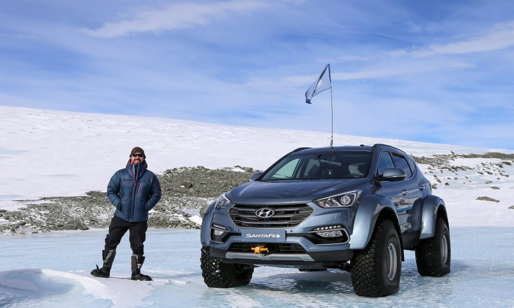 Hyundai Santa Fe conquers Antarctic, driven by great grandson of Sir Ernest Shackleton